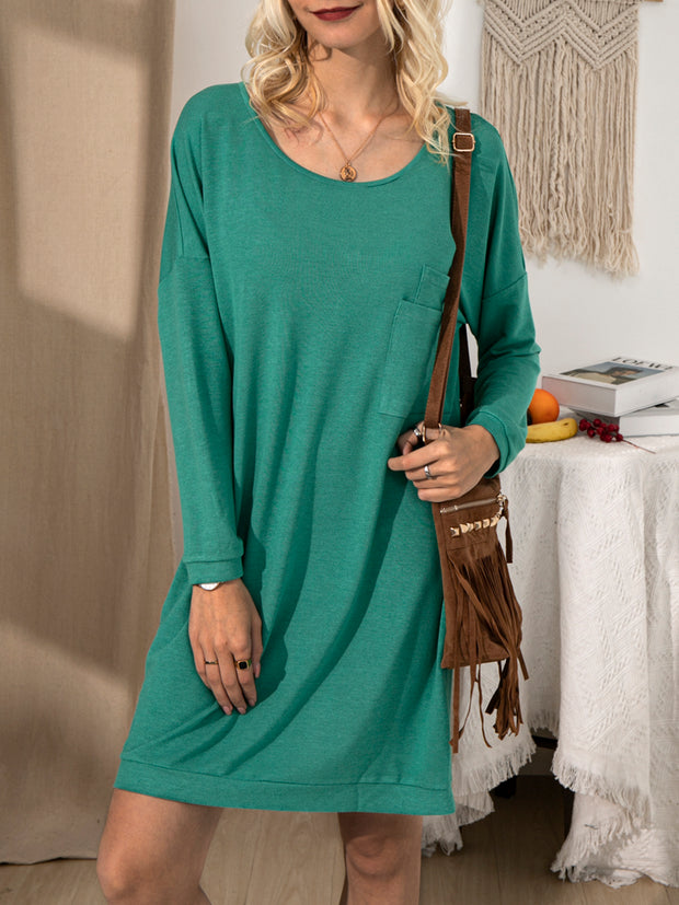 Green Long Sleeve Crew Neck Shirts & Tops