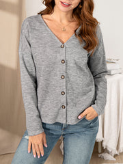 Knitted V Neck Casual Wool Blend Outerwear