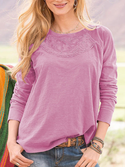 Embroidery Boho Long Sleeve Shirts & Tops