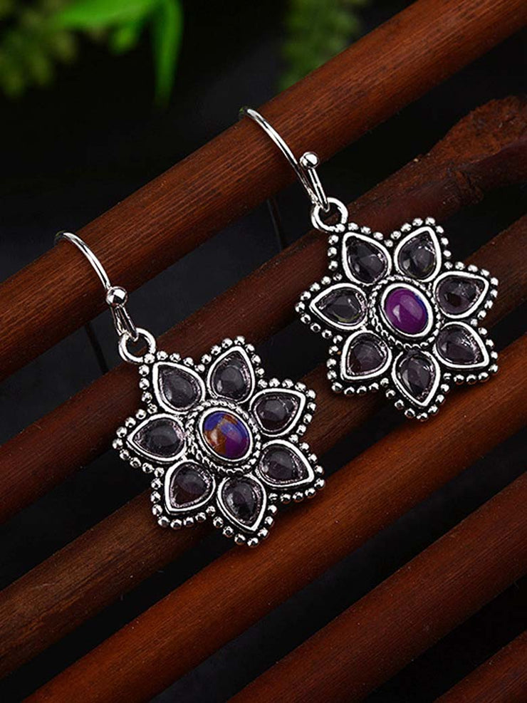 Purple Casual Alloy Earrings
