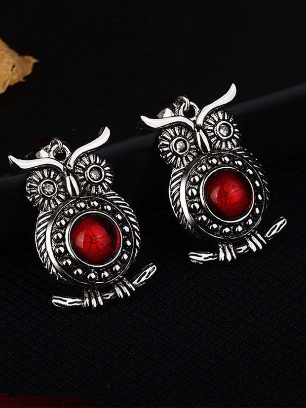 Red Casual Alloy Earrings