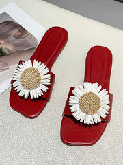 Printed Daisy slipper sandals