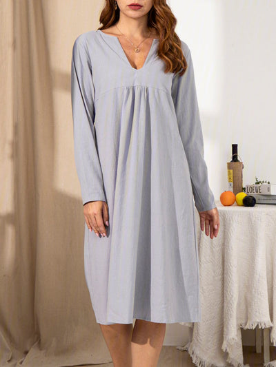 Ladies All-match Long Sleeve Dress