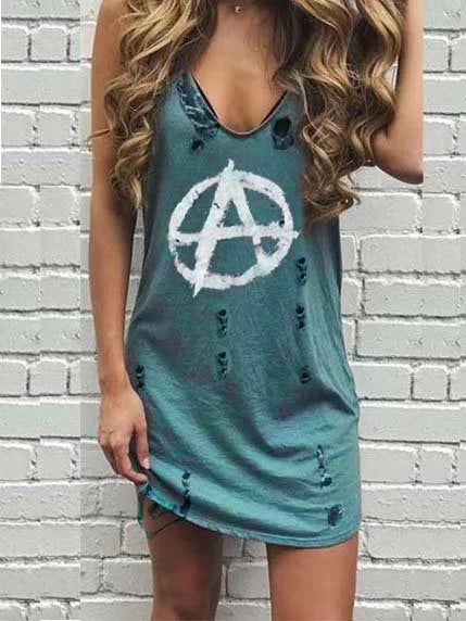Cotton Casual Sleeveless Dresses