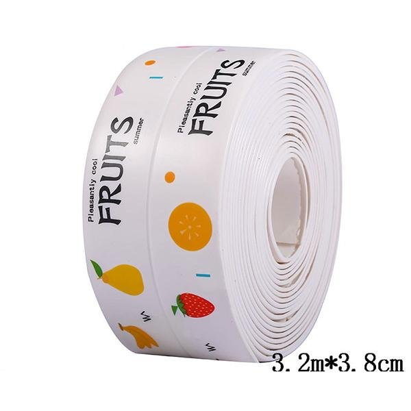3.2 M*3.8 CM Kitchen Waterproof Mildew Tape, Self Adhesive Tub and Wall Sealing Tape