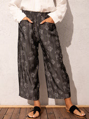 Black Casual Denim Pants