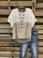 Brown Casual Leopard Shirts & Tops