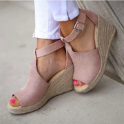 Women's Summer Wedges Peep Toe Sandals