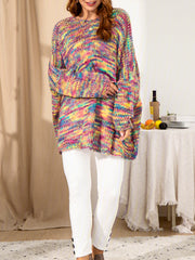 Multicolor Ombre Long Sleeve Sweater