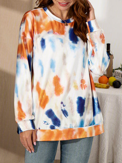 Multicolor Long Sleeve Casual Sweatshirt