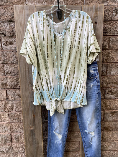 Casual Ombre/tie-Dye Tops