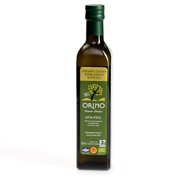 Orino Extra Virgin Organic Olive Oil - Sitia, Crete (500 ml)