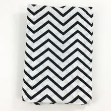 Load image into Gallery viewer, Black Chevron Muslin Swaddle Blanket
