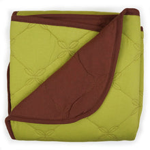 Load image into Gallery viewer, Lime & Brown Organic Quilted Blanket