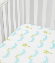 Load image into Gallery viewer, Crocodile Muslin Crib Sheet