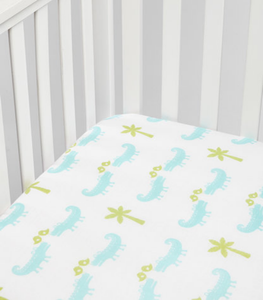 Crocodile Muslin Crib Sheet