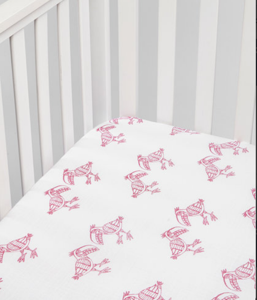 Toucan Fitted Muslin Crib Sheet
