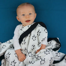 "Load image into Gallery viewer, Pandas Triple Layer Bamboo Swaddling Blankets (47""x47"")"