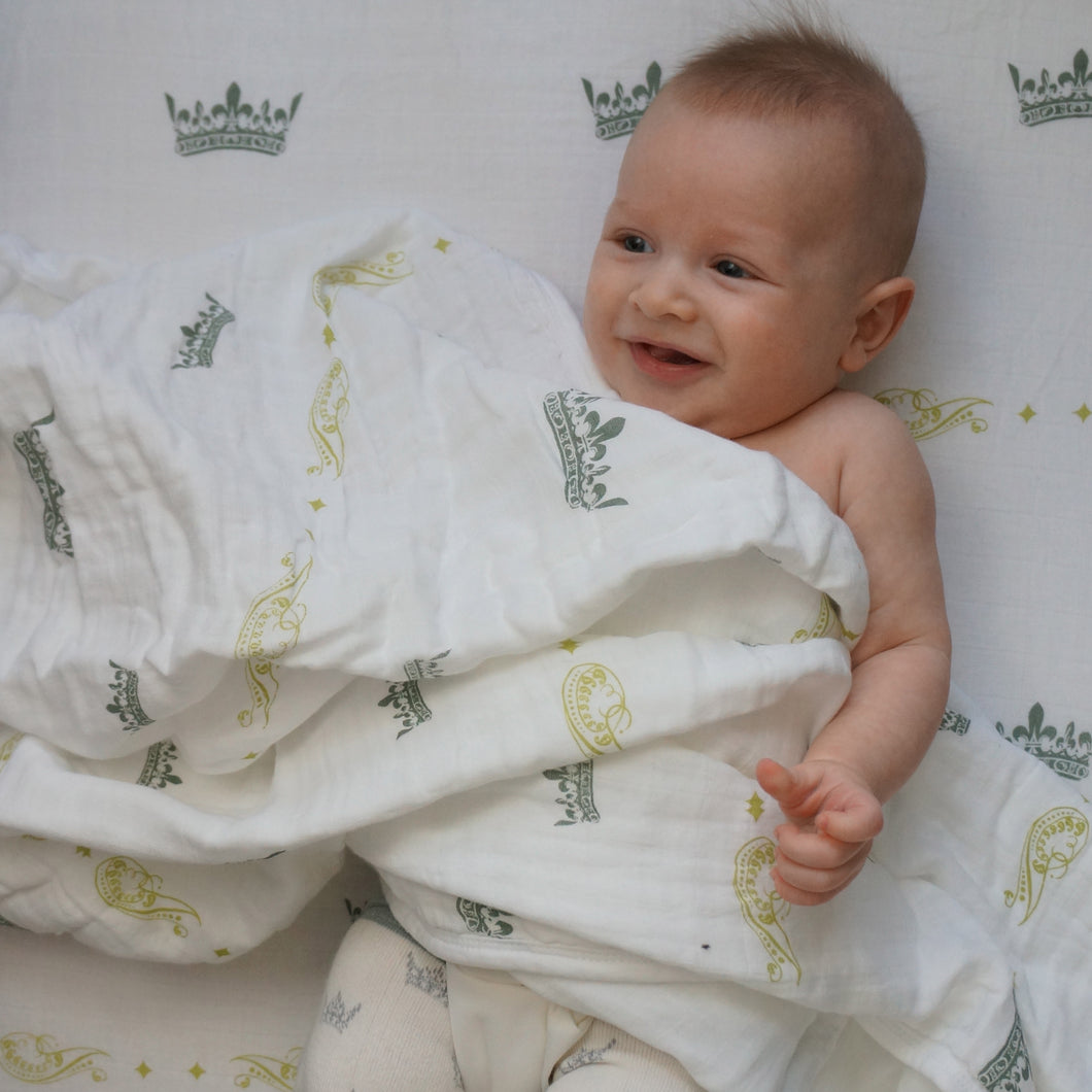 Royal Baby Muslin Swaddle Blanket