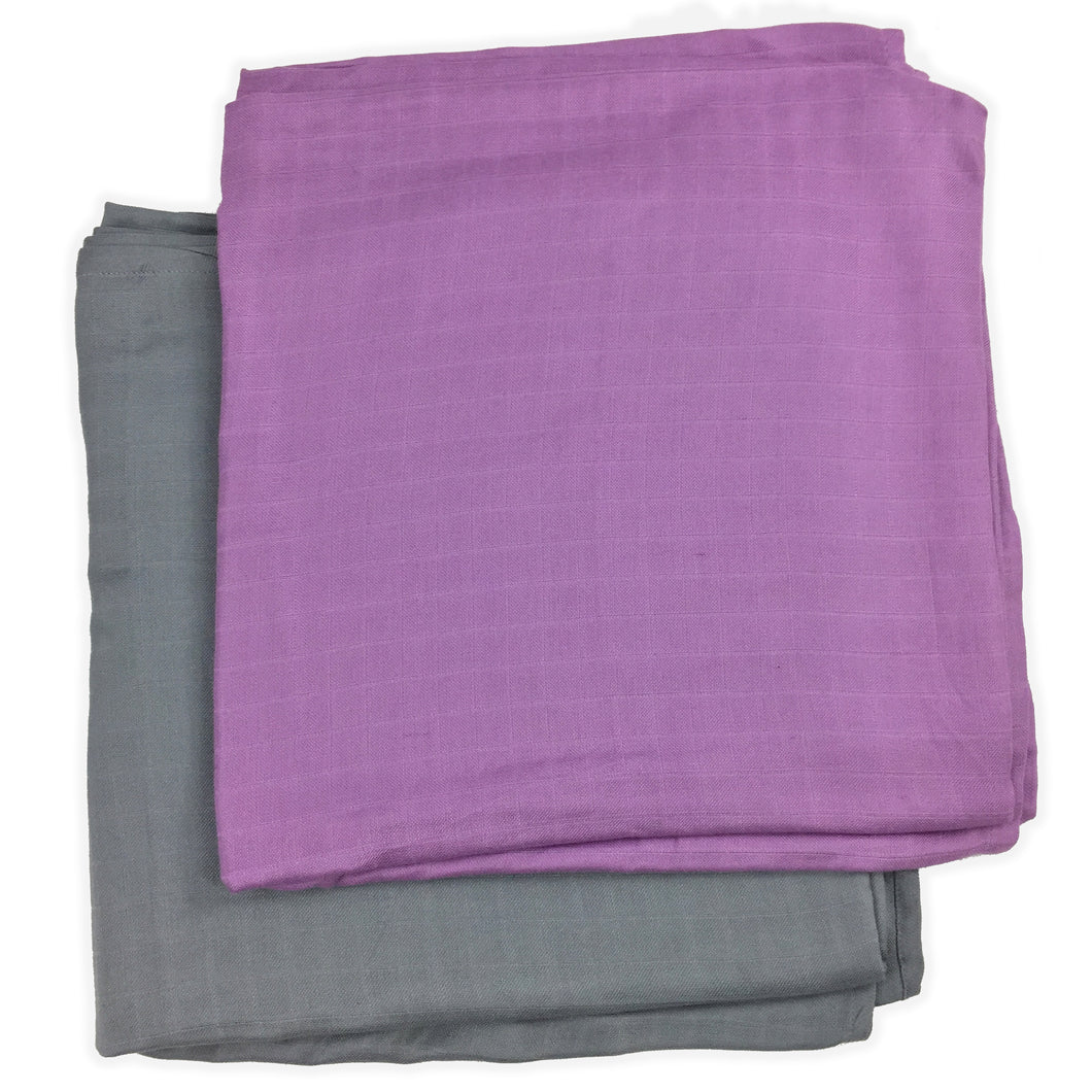 2 pack - Solids Muslin Swaddles 50