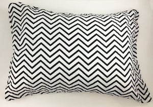 Black Chevron Muslin Pillowcase