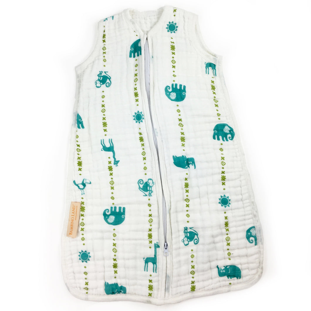 Jungle Teal - Sleeping Bag (fits 3-9 months)