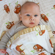 Load image into Gallery viewer, Sloths, Triple Layers Blanket with Jersey or Satin Options