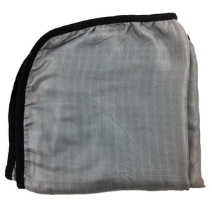 "Gray with Black Trim, Double Layer Blanket 50""x50"" made from Bamboo, muslin, nursing cover, large size light weight blanket"