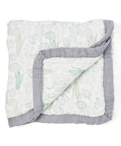 "Cactus Triple Layer Bamboo Swaddling Blankets (47""x47"")"