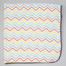 Load image into Gallery viewer, Double Layer Muslin Swaddling Blanket - Colorful Chevron