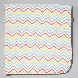 Double Layer Muslin Swaddling Blanket - Colorful Chevron