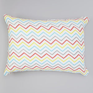 Colorful Chevron Muslin Pillowcase