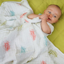 Load image into Gallery viewer, Feathers Muslin Swaddle Blanket