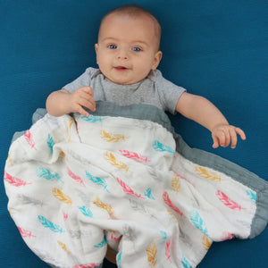 "Feathers & Arrows - Medium 3-layer Snuggle Blanket (23""X23"")"