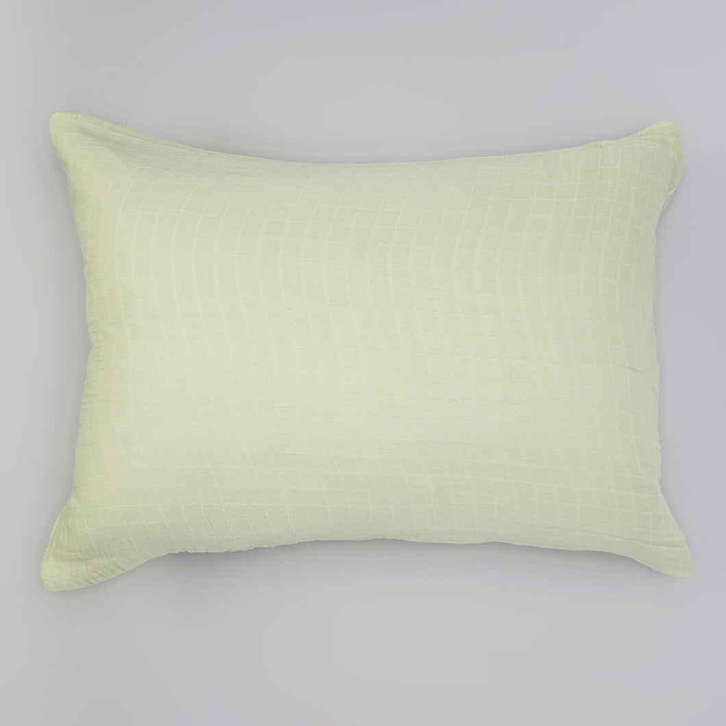 Green Solid Muslin Pillowcase