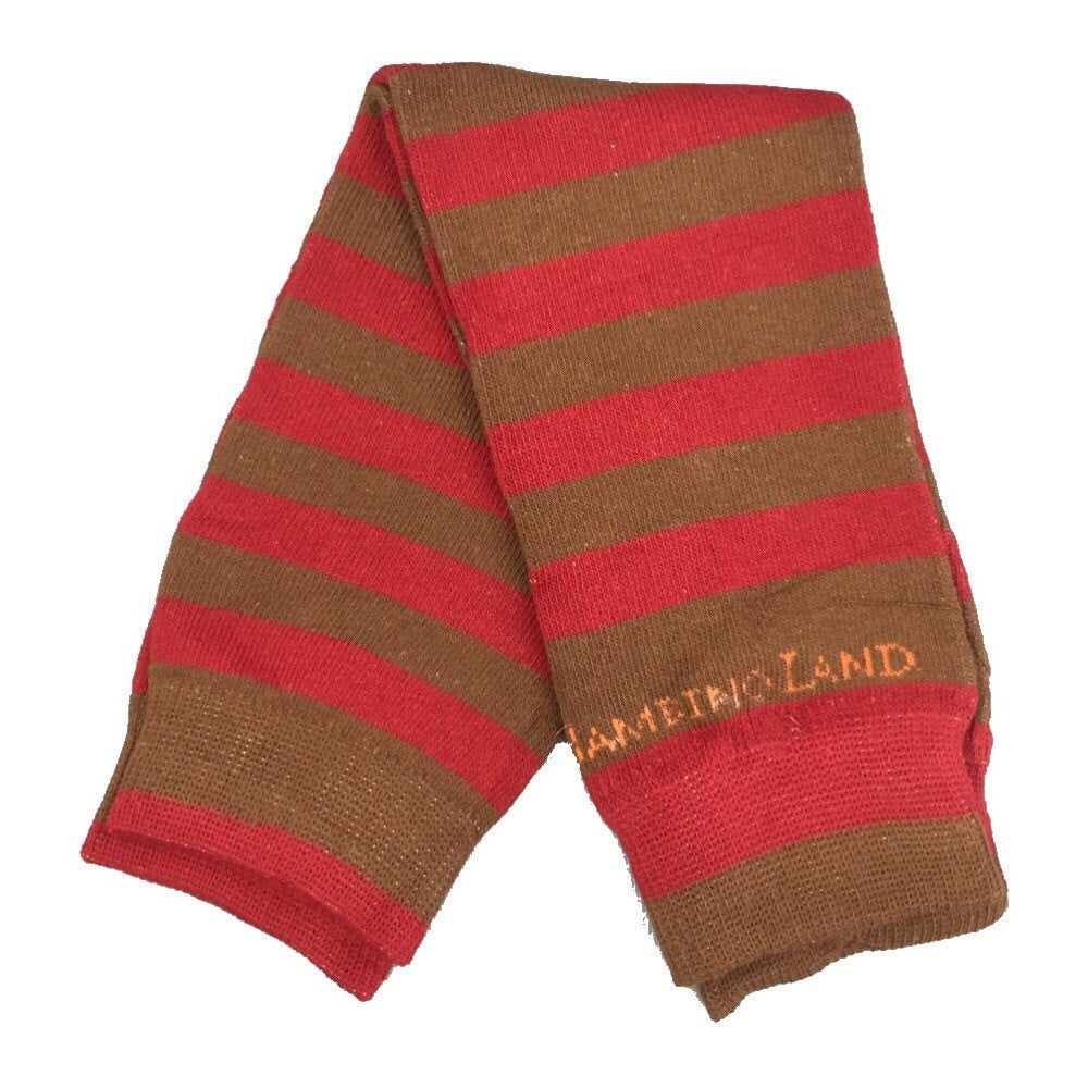 Brown & Red Stripes Leg Warmers