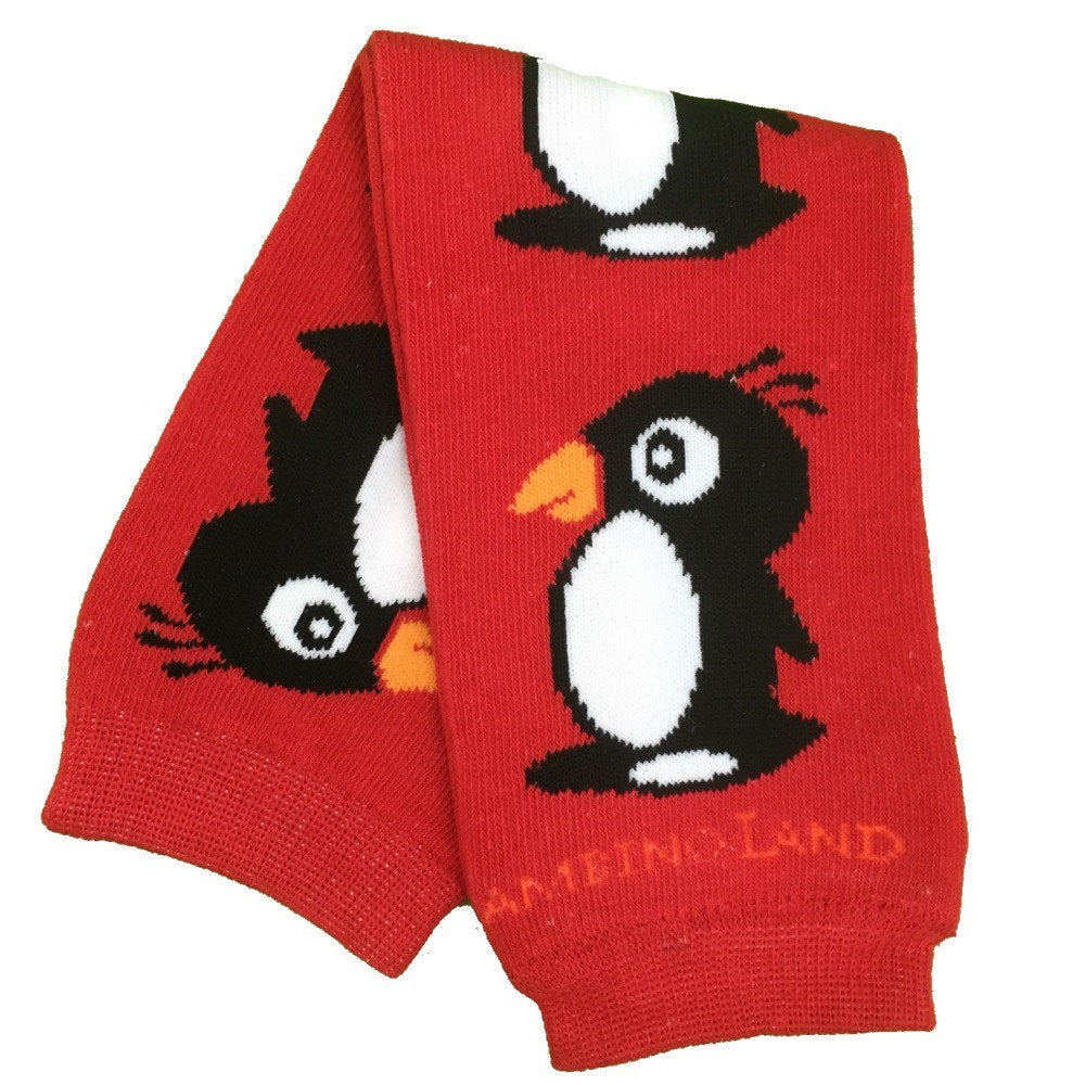Red Penguins Baby Leg Warmers