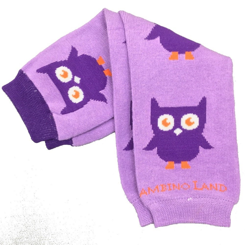 Purple Owls Baby Leg Warmers
