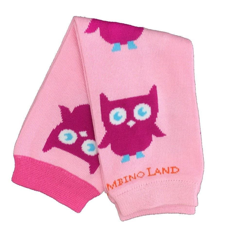 Pink Owls Baby Leg Warmers