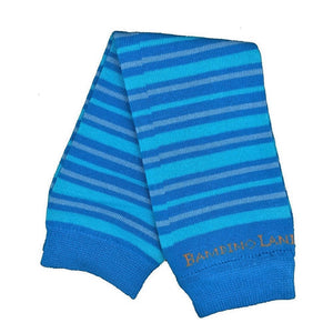 Small Stripes Blue Baby Leg Warmers