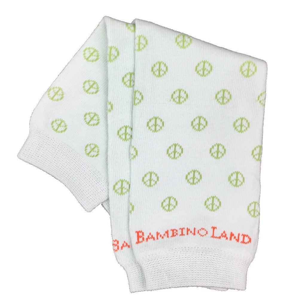 Peace Signs Green Baby Leg Warmers