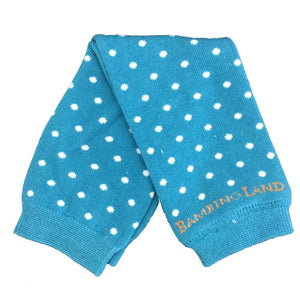 Blue with White Dots Baby Leg Warmers