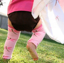 Load image into Gallery viewer, 2 Pack Dragonflies Light and Dark Pink Baby Leg Warmers