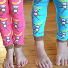 Load image into Gallery viewer, Monkeys Teal Baby Leg Warmers