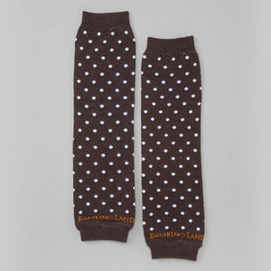 Brown with White Dots Baby Leg Warmers