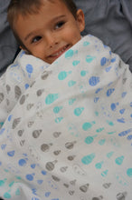 Load image into Gallery viewer, Hot Air Balloons Muslin Swaddle Blanket