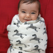 Load image into Gallery viewer, Zebras Muslin Swaddle Blankets