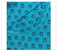"Teal Pandas 2-layer Big Bambino: made with 100% Organic Cotton Muslin. (extra large 60""x72"") for older kids & adults"