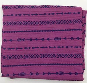 Berry Arrows Muslin Swaddle Blanket