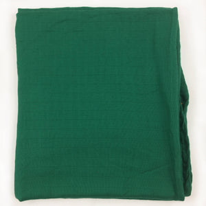 "Green Single Layer Swaddle 50""x50"" made from Bamboo, muslin, nursing cover, large size light weight blanket"